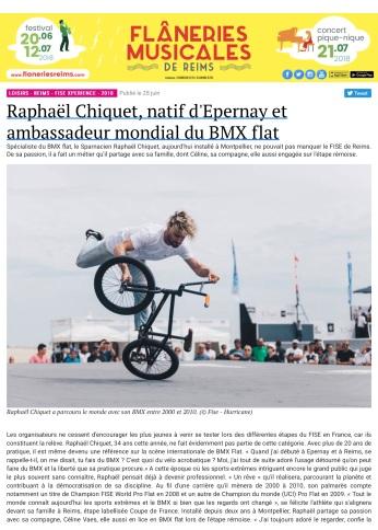Raphaël Chiquet, natif d'Epernay et ambassadeur mondial du BMX flat - L'Hebdo du Vendredi - copie